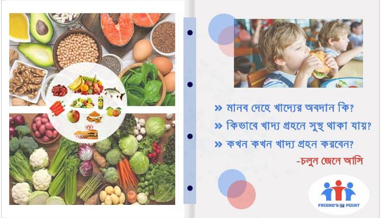 মানব দেহে খাদ্যের অবদান(Contribution of food to human body)